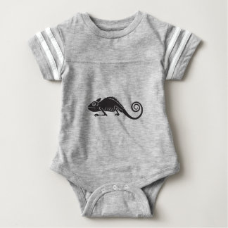 simple chameleon baby bodysuit