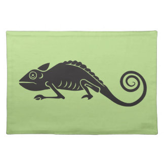 simple chameleon placemat