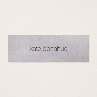 "Simple Chic Gray Professional Linen ""Look"" Texture Mini Business Card"