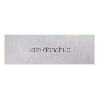 "Simple Chic Gray Professional Linen ""Look"" Texture Pack Of Skinny Business Cards"