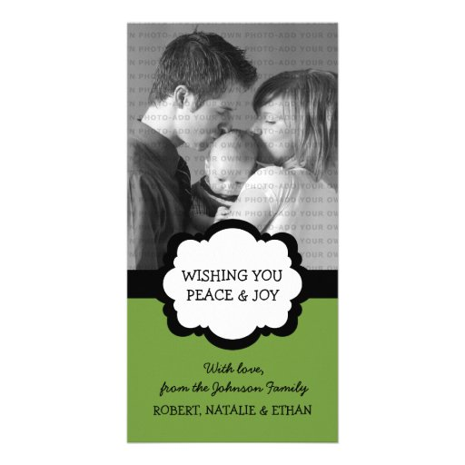 Simple Chic Holiday Photo Card, Green