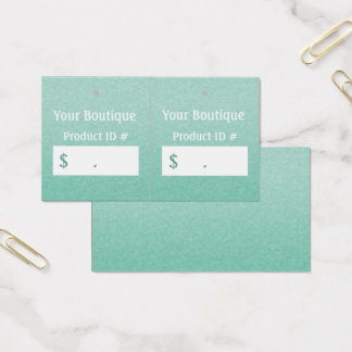 Simple Chic Mint Boutique Retail Sales Hang Tags