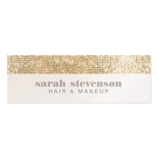 Simple, Chic & Modern Sparkly Gold FAUX Sequins Business Card Templates