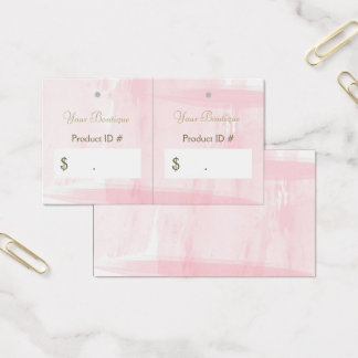 Simple Chic Pink Boutique Retail Sales Hang Tags