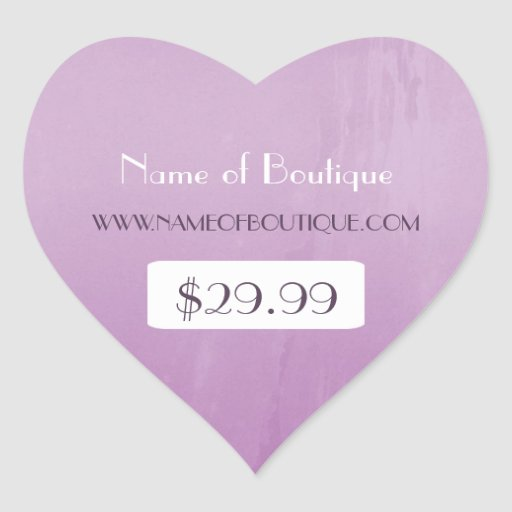 Simple Chic Purple Boutique Retail Price Tags Stickers