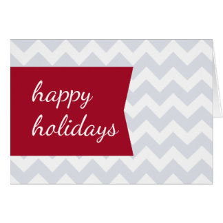 Simple Chic Red Tag Chevron Folded Holiday Card