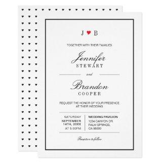 Simple Chic Typography Wedding Invitation