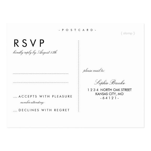 wedding rsvp postcards templates