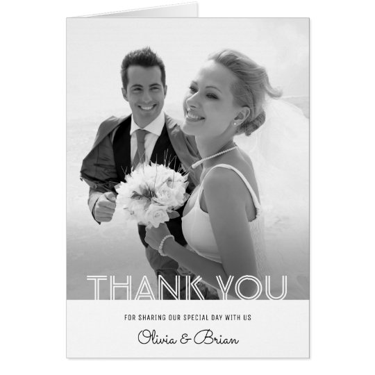 Simple Chic Wedding Thank You Note Card