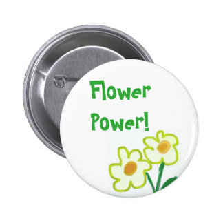 Simple Childish Flower Watercolor Painting 6 Cm Round Badge