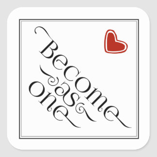 Simple Christian Become as One Red Heart Sticker