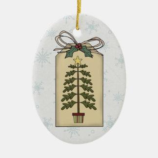Simple Christmas Tree Gift Tag Ornament