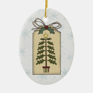Simple Christmas Tree Gift Tag Ornament