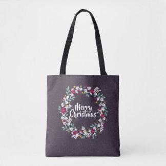 Simple Christmas Wreath Purple   Tote Bag
