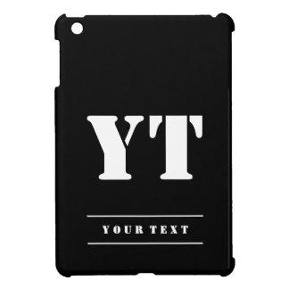Simple Classic Black Monogram Cover For The iPad Mini