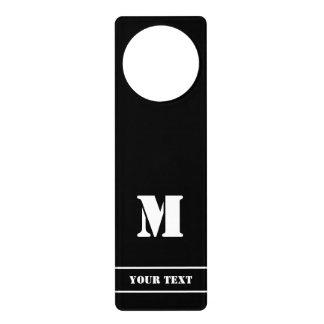 Simple Classic Black Monogram Door Hanger