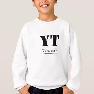 Simple Classic Black Monogram Sweatshirt