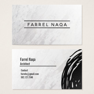 Simple Classy Black Ink Pen Strokes Business Card