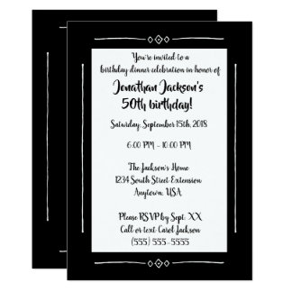 Simple Classy Black on Black All Occasion Monogram Card