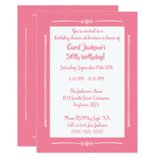 Simple Classy Pink on Pink All Occasion Party Card