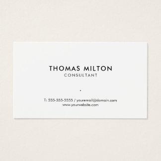Simple Clean Elegant White Consultant Business Card