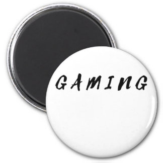 Simple Clean Gamer Gaming Black Text Magnet