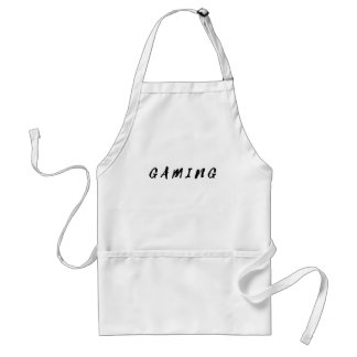 Simple Clean Gamer Gaming Black Text Standard Apron