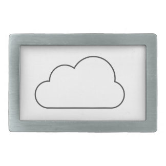 Simple Cloud Rectangular Belt Buckles