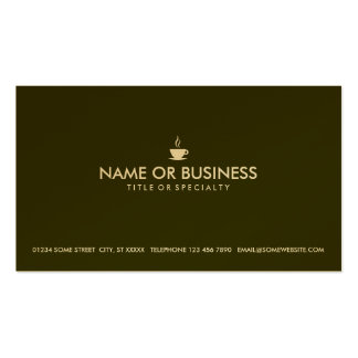 simple coffee pack of standard business cards