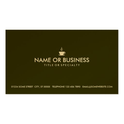 simple coffee business cards