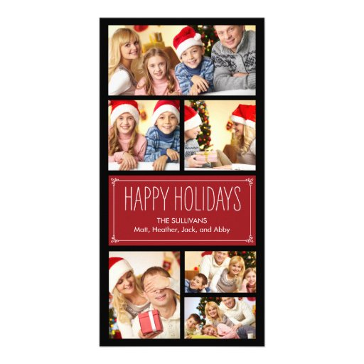 Simple Collage Holiday Photo Cards Photo Card