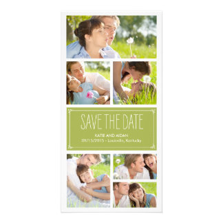 Simple Collage Save The Date Photo Cards Personalized Photo Card