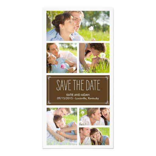 Simple Collage Save The Date Photo Cards Photo Card