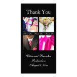 Simple Collage Thank You Photo Card (black)