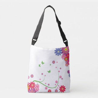 Simple colourful floral crossbody bag