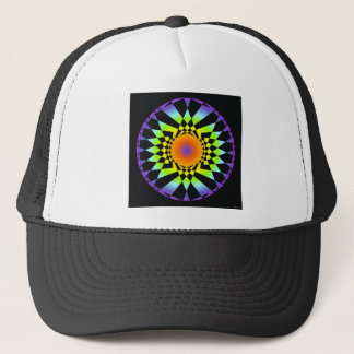 Simple Complexity. Chakra Colors, Sacred Geometry Trucker Hat