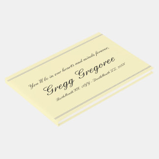 Simple & Conservative Funeral Guestbook