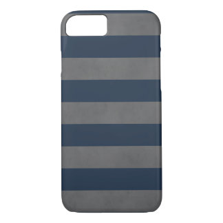 Simple Cool Manly Texture Grey Blue Striped iPhone 8/7 Case