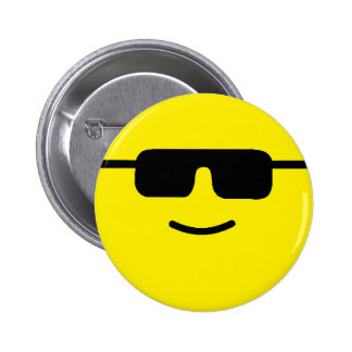 Simple Cool Shades Yellow Face 6 Cm Round Badge
