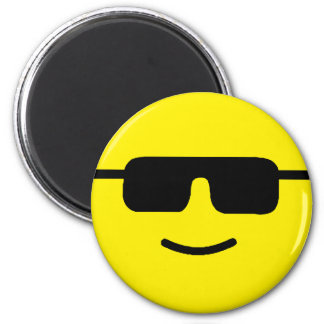 Simple Cool Shades Yellow Face Magnets