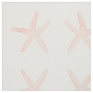 Simple Coral Starfish Fabric