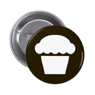 simple cupcake / muffin 6 cm round badge