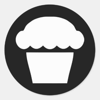 simple cupcake classic round sticker
