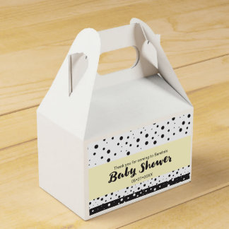 Simple, custom, dots, Baby shower Favour Boxes