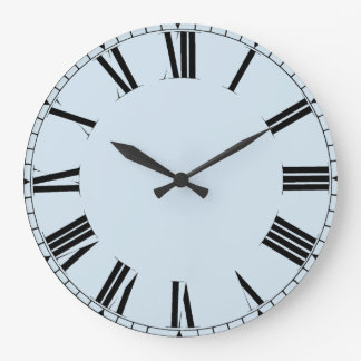 Simple customizable roman numerals large clock