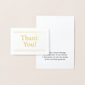 "Simple, Customizable ""Thank You!"" Card"
