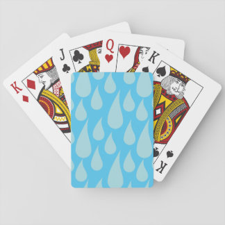 Simple Cute Blue Water Droplets Rain Drops Playing Cards