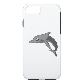 Simple Cute Cartoon Dolphin Kawaii iPhone 7 Case
