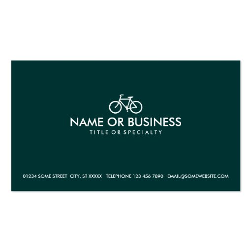 simple cycles (color customizable) business card templates