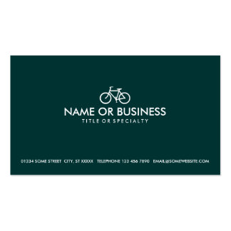 simple cycles (color customizable) pack of standard business cards